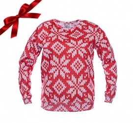 Bluza SWEATER PRINT IN RED
