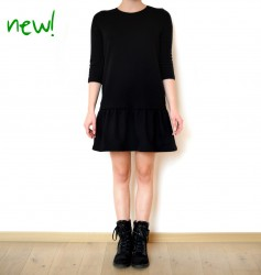 Sukienka BLACK FLOUNCE DRESS