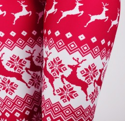 Legginsy NORDIC PRINT IN RED